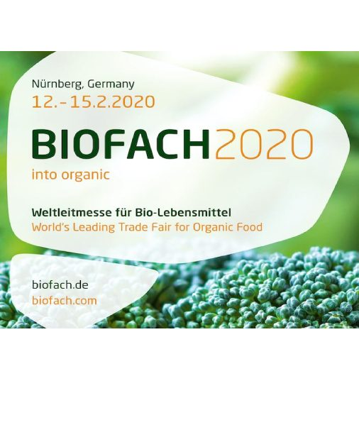 Come and visit us at the exhibition BIOFACH 2020